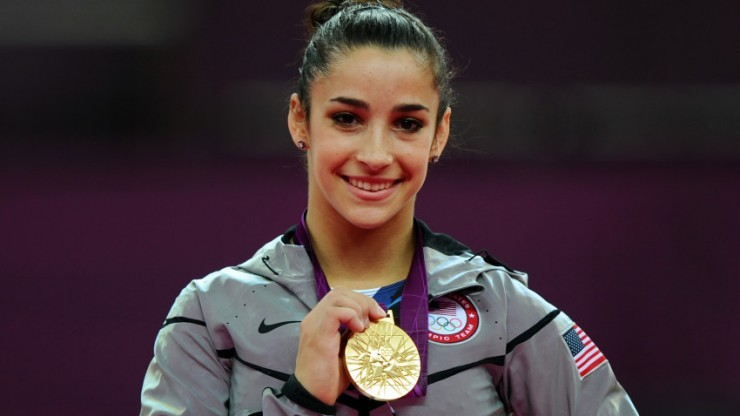 Aly Raisman with her gold medal during the 2012 Olympics