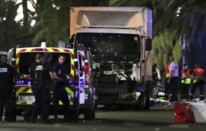 Nice, France, truck attack kills 80, 100 Injuired, Police Shot Driver