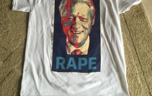 Bill Clinton 'rape' T-shirts sold at Republican National Convention by Alex Jones and Roger Stone