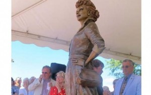 'Scary Lucy' no more: Town unveils new Lucille Ball statue
