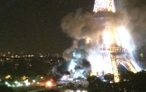 Conspiracy web sites mistook an accidental fireworks explosion near the Eiffel Tower for a terrorist attack on Paris.