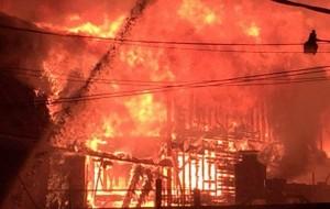 Massive 6-alarm fire burning in downtown Brockton